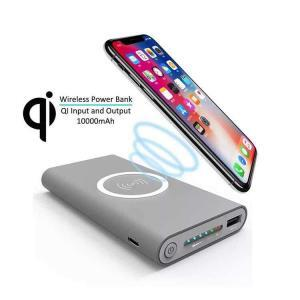 Dual USB / USB C Power Bank 8000mAh mit Qi Wireless Charger Ladestation (2.1A)