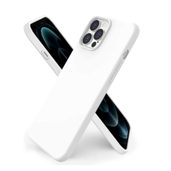 iPhone 12 / iPhone 12 Pro Silikon Case Hülle – Weiss